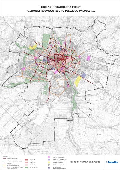 Mapa - koncepcja sieci pieszej male